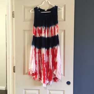 American flag tunic/beach coverup - OS